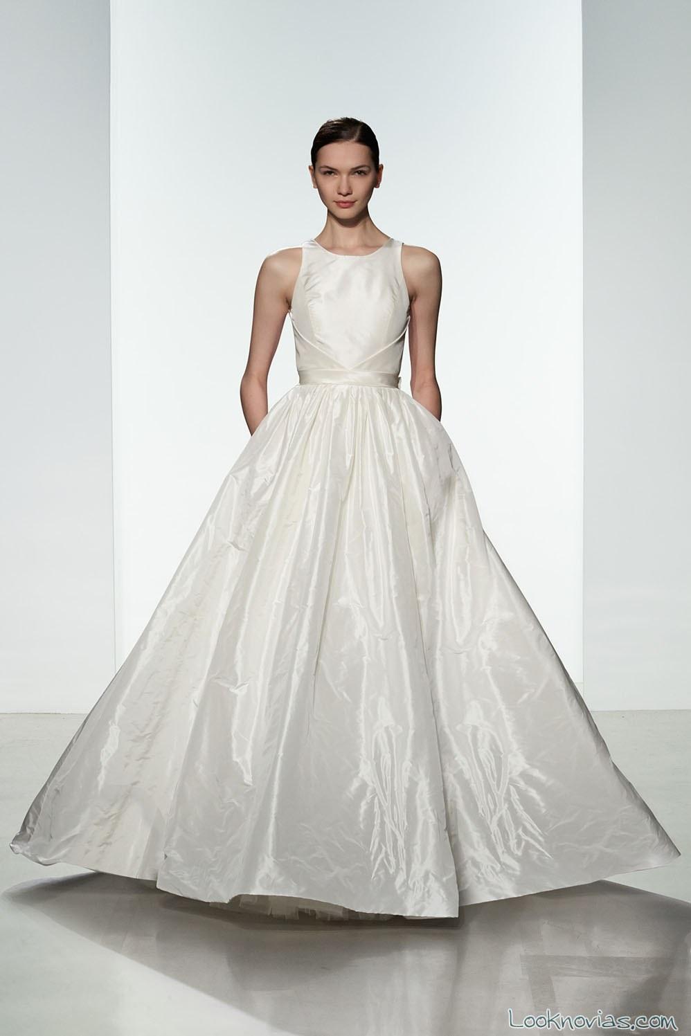 vestido evasé de amsale primavera 2016