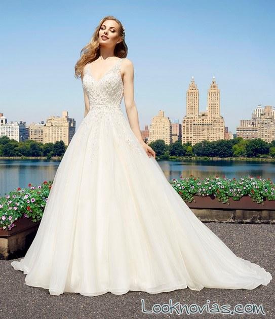vestido evasé moonlight novias 2017