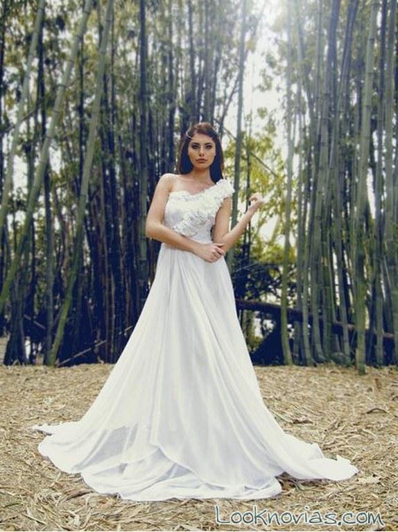 vestido evasé novias lauren elaine
