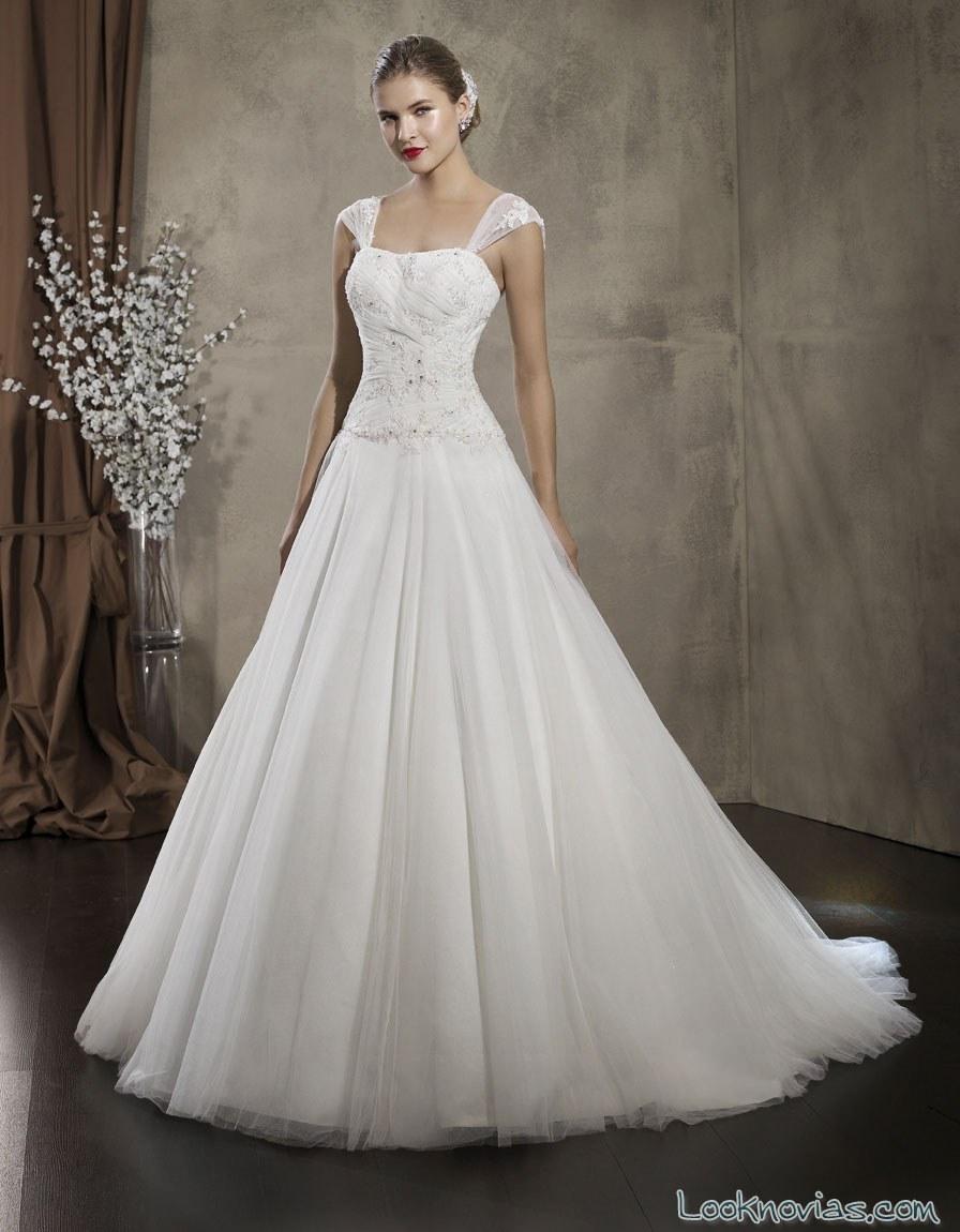 vestido evasé sarah bride