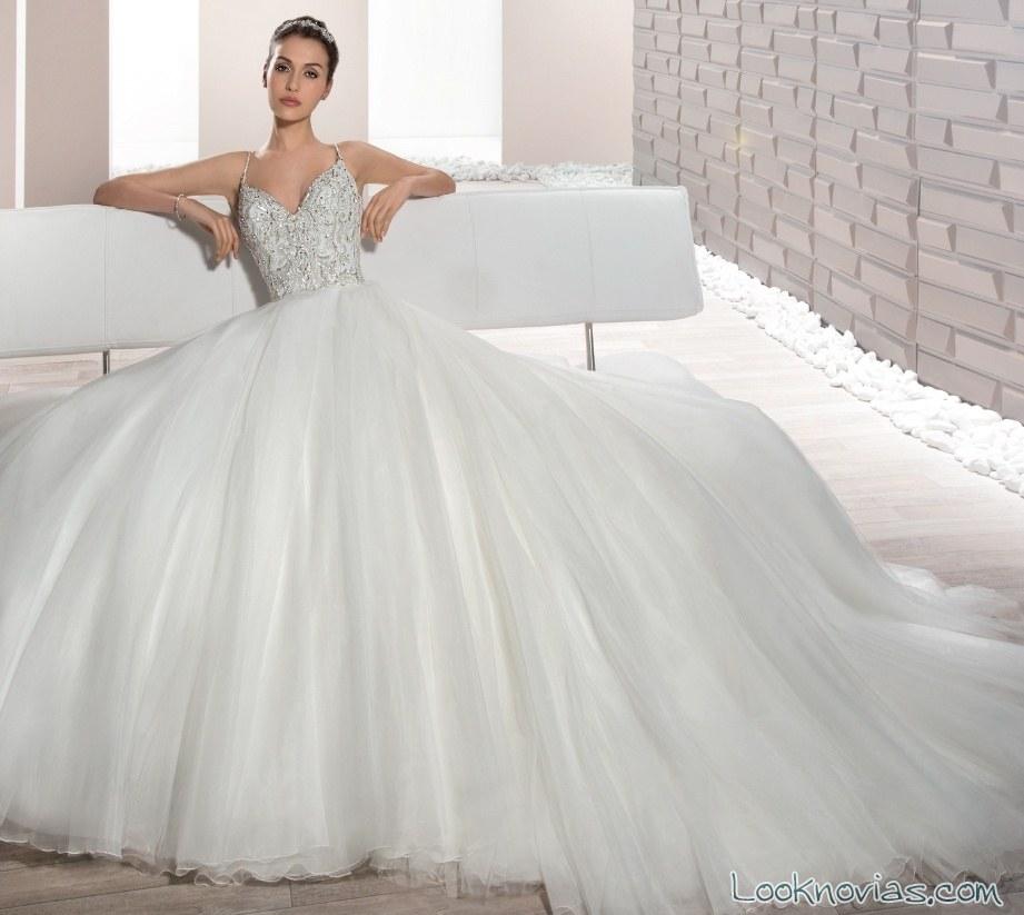 vestido falda demetrios corte princesa