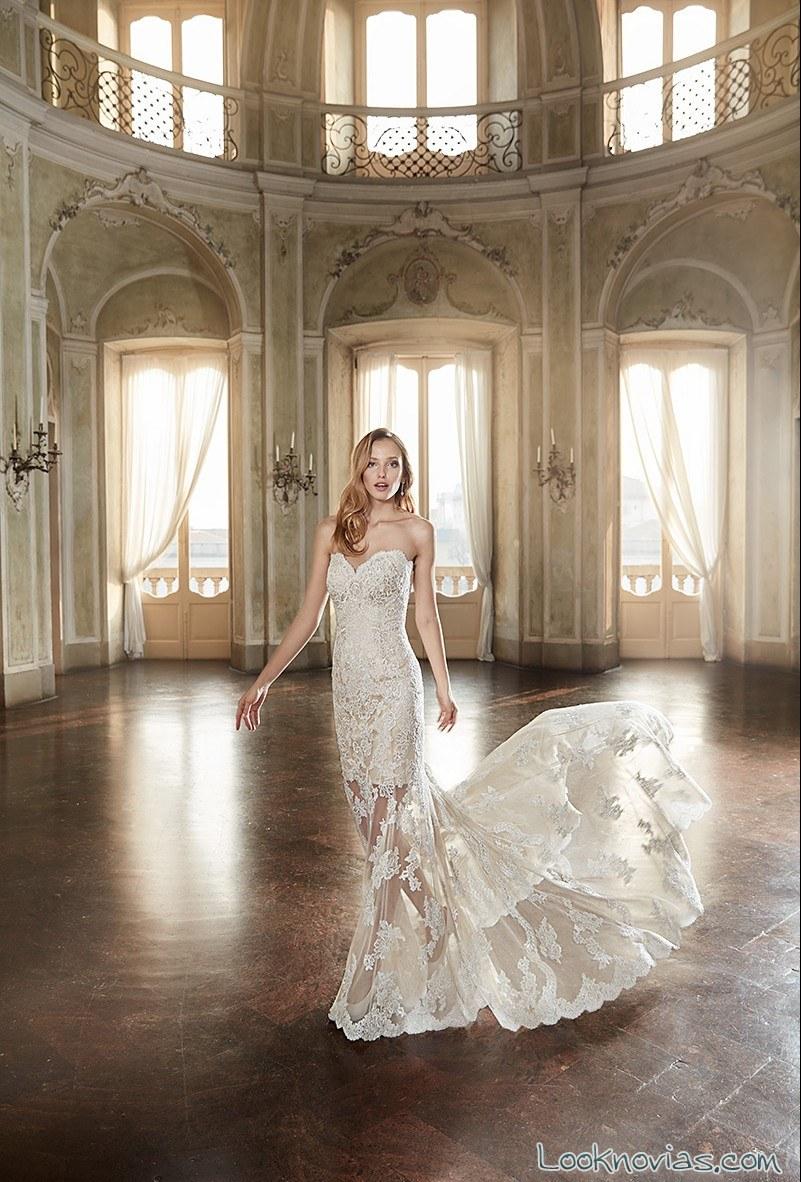 vestido falda ilusión para novias