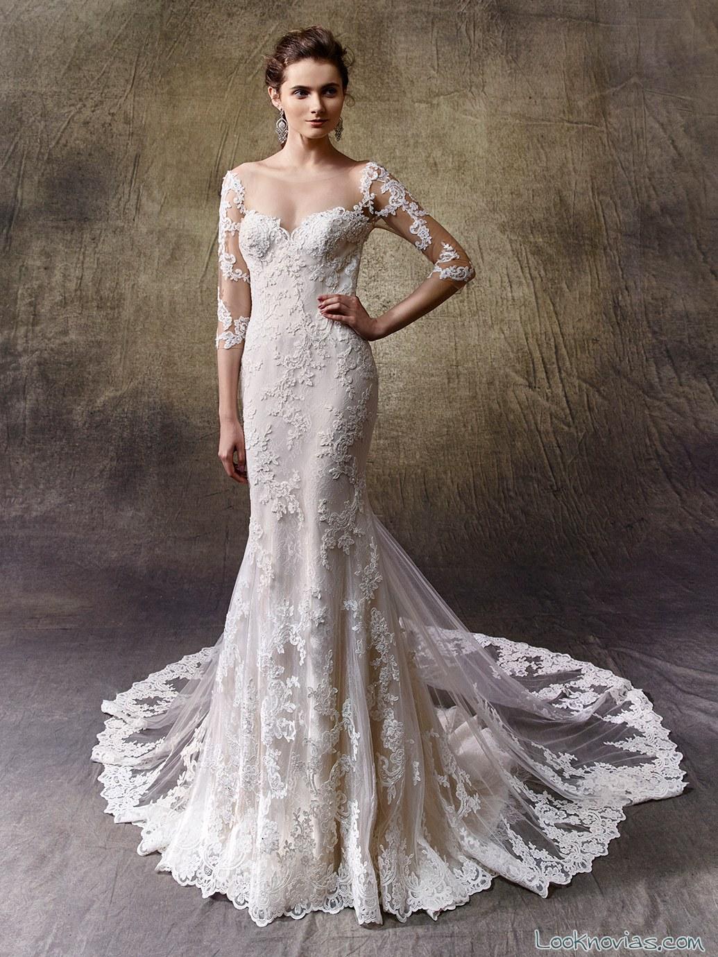 vestido grandes encajes para novias