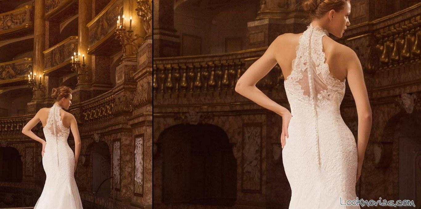 vestido impero sposa escote espalda