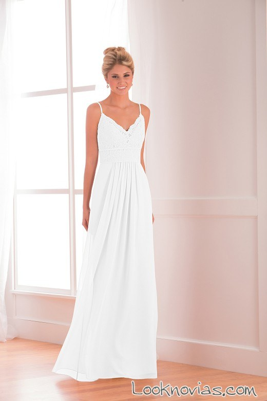 vestido jasmine bridal sencillo con tirantes