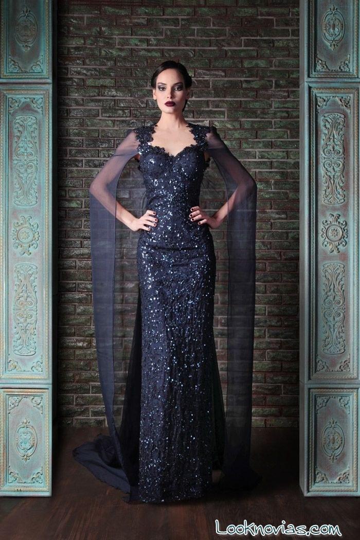 vestido largo de fiesta por rami kadi