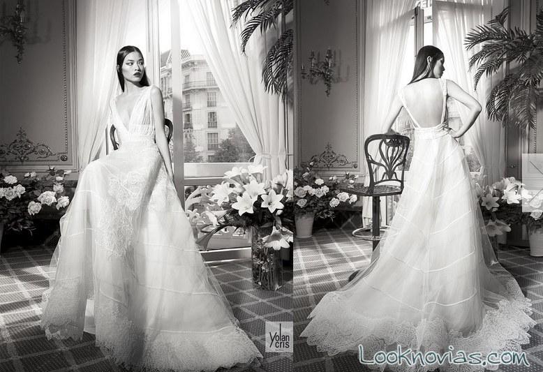 Vestido largo de novia yolancris