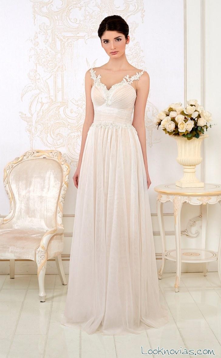 vestido línea evasé novias 2016