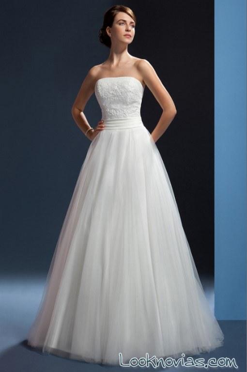 vestido liso novia orea sposa