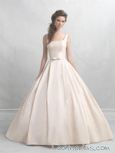 vestido madison james con falda de volumen