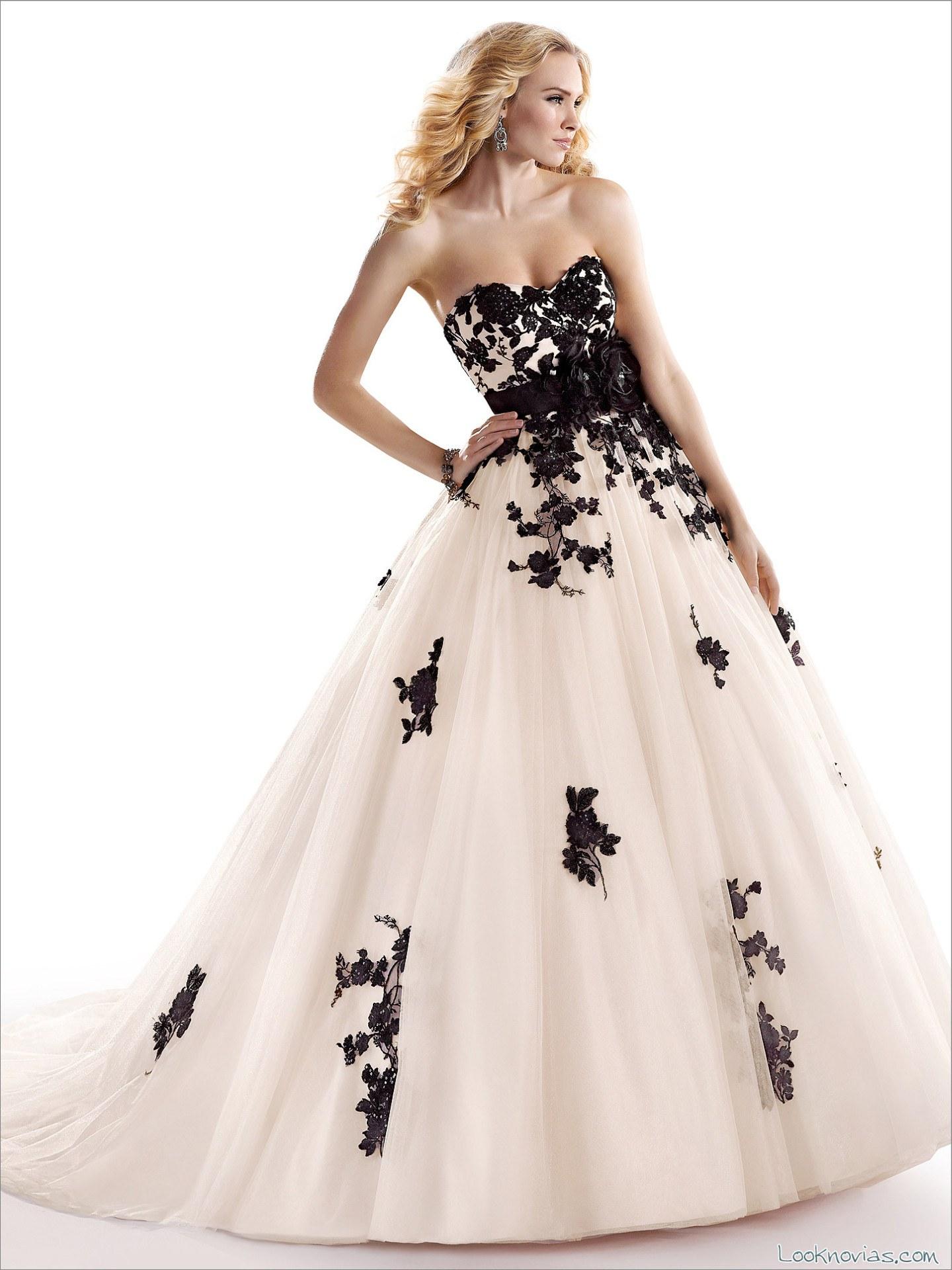 vestido maggie sottero combinado en color