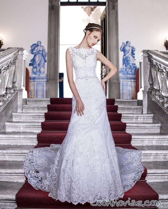 vestido maria karin con escote fantasía