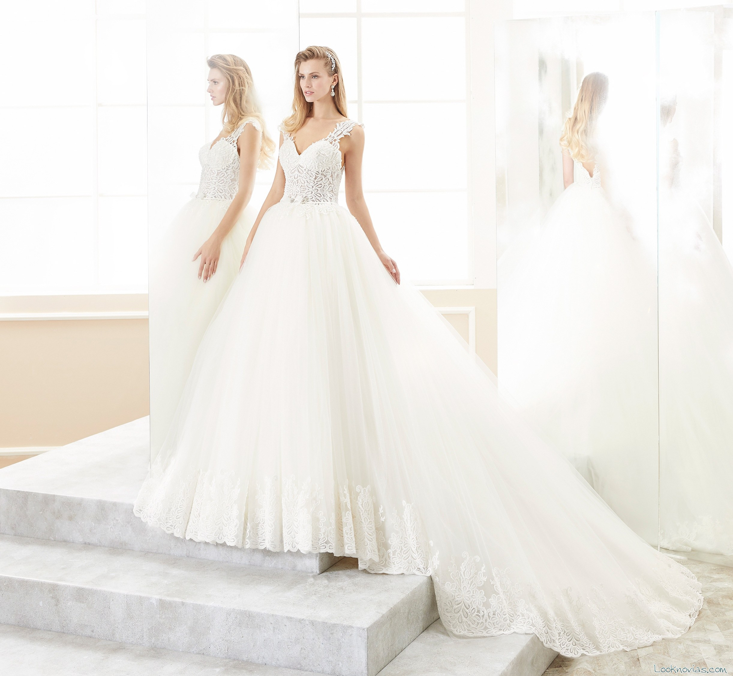 vestido nicole spose romance 2018