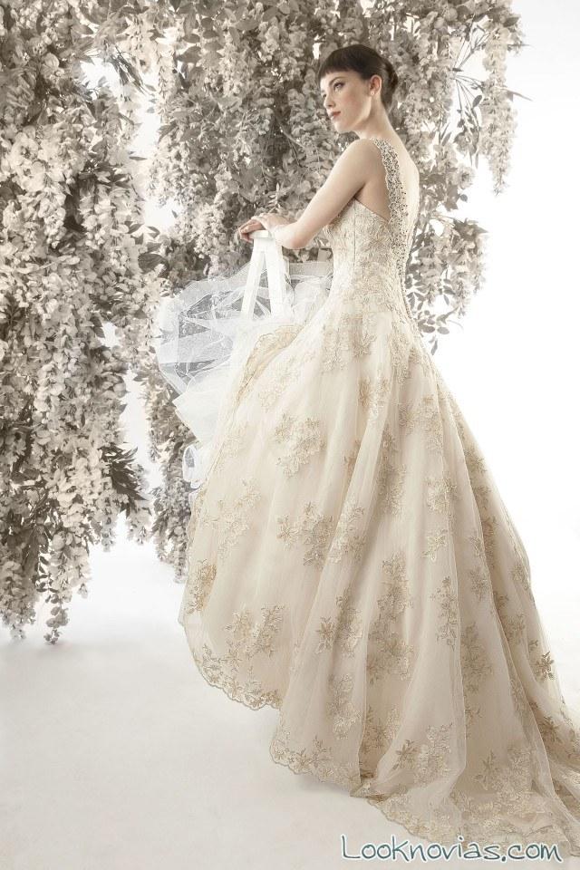 vestido novia color estampado christina dando