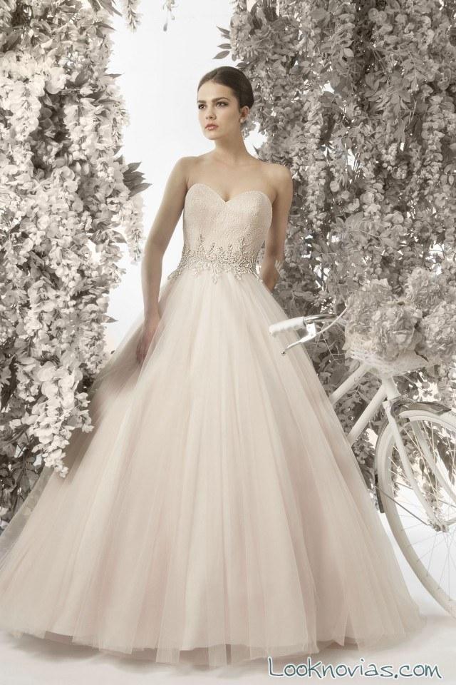 vestido novia color princesa christine dando