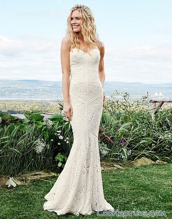 vestido novia crochet