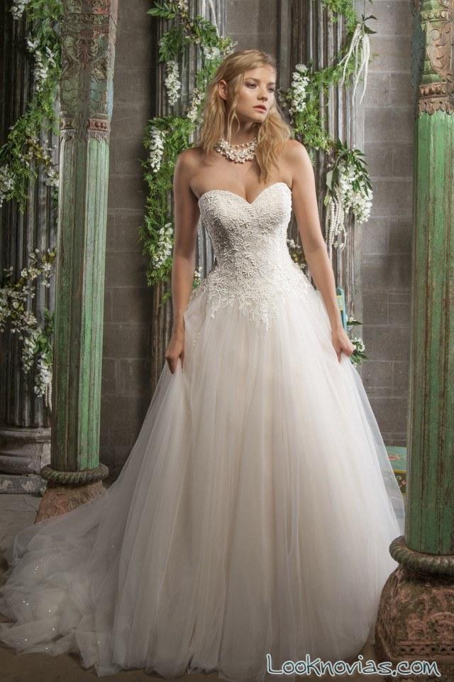 vestido novia de tul christine dando