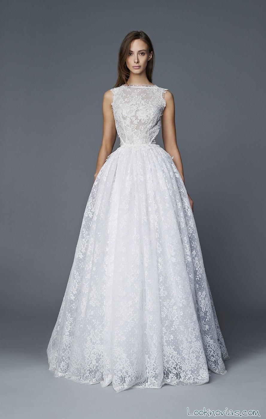 vestido novia encajes antonio riva