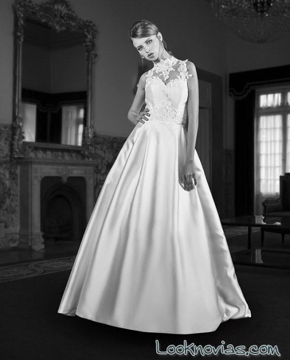vestido novia falda princesa maria karin