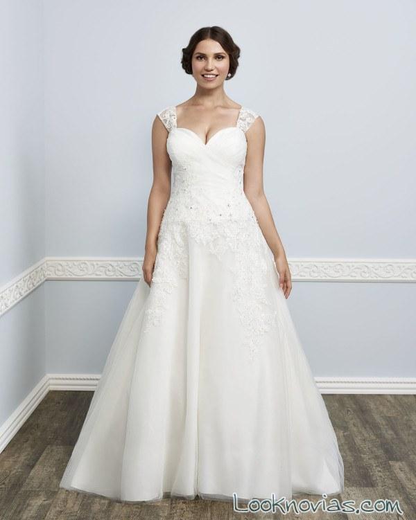 vestido novia gasa kenneth winston