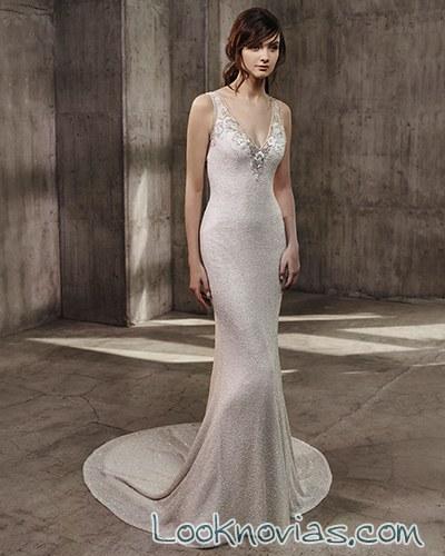 vestido novia lencero badgley mischka