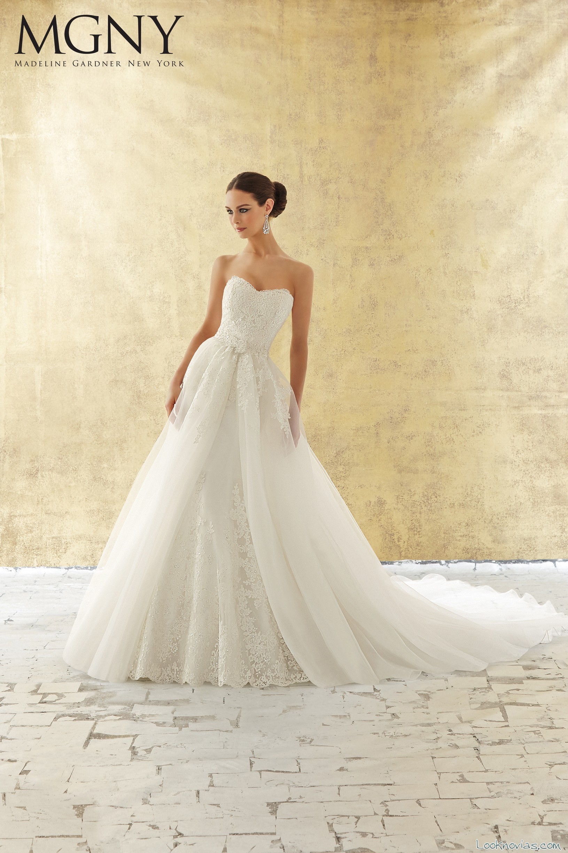 5 vestidos para novias con falda de tul