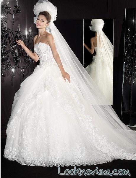 vestido novia princesa bustier