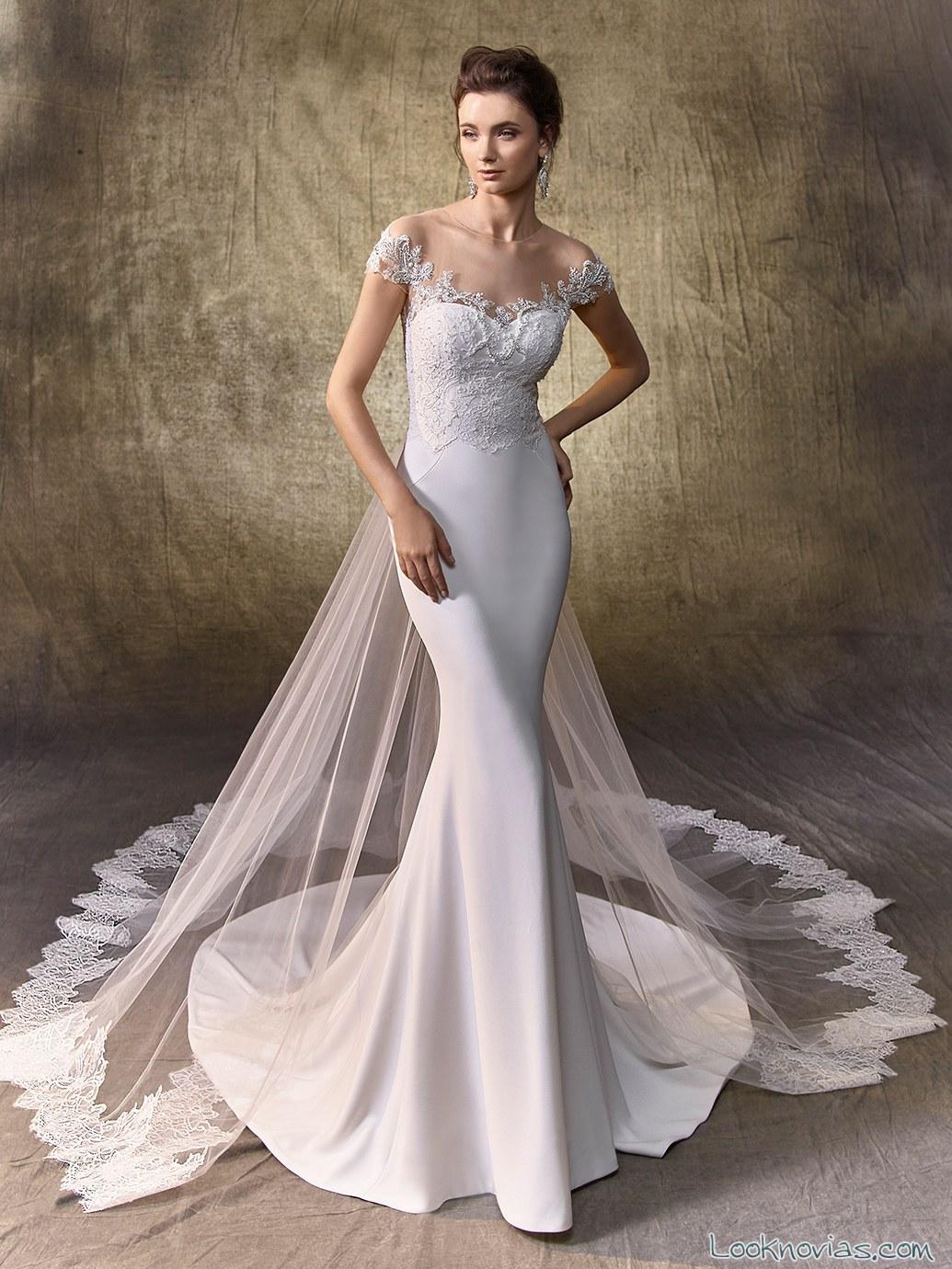 vestido novia sirena enzoani 2017