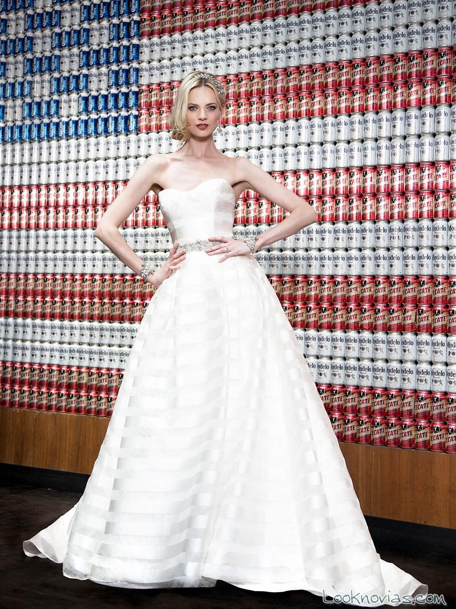 vestido novia vh couture rayas