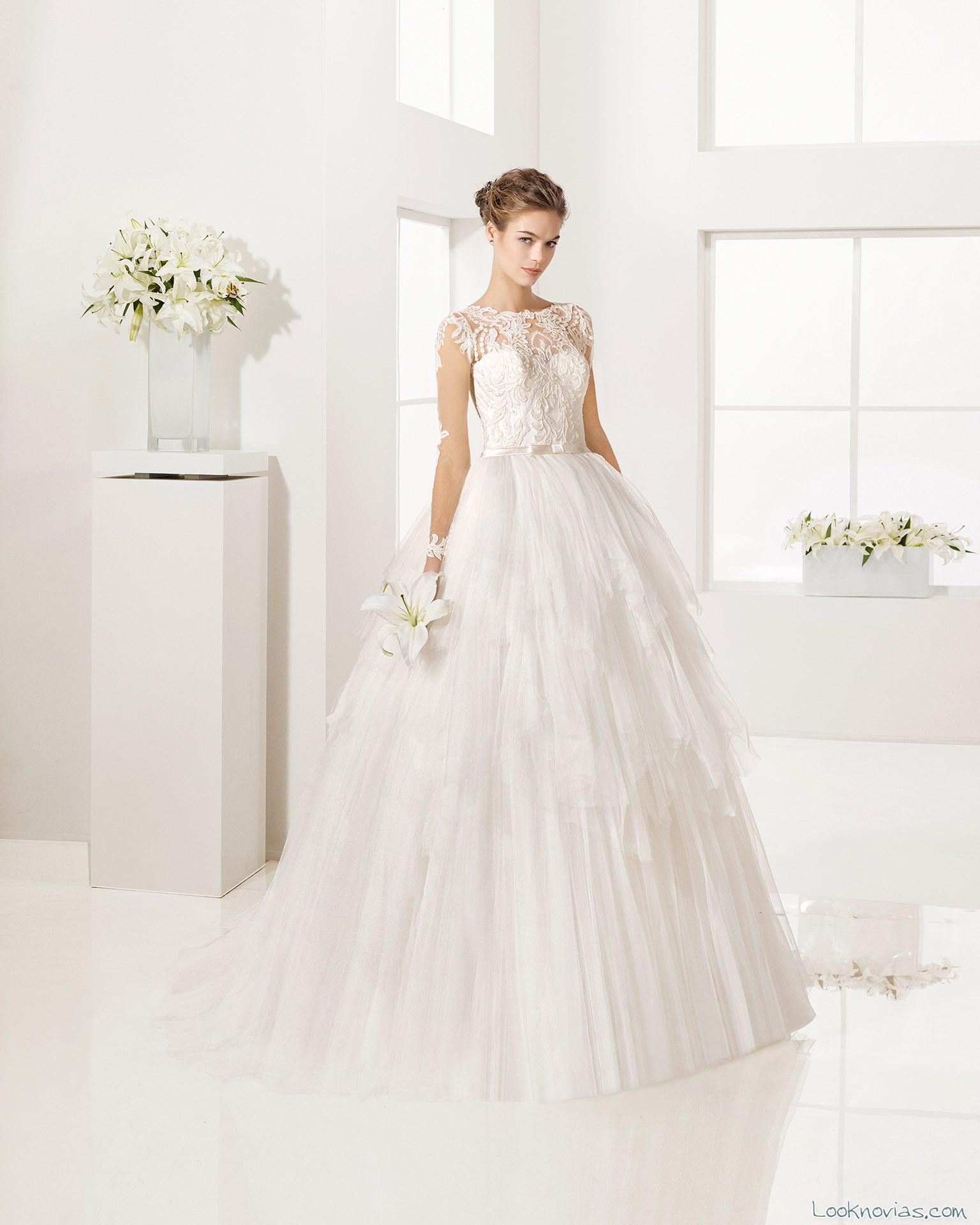 vestido novias 2017 faldas con volumen