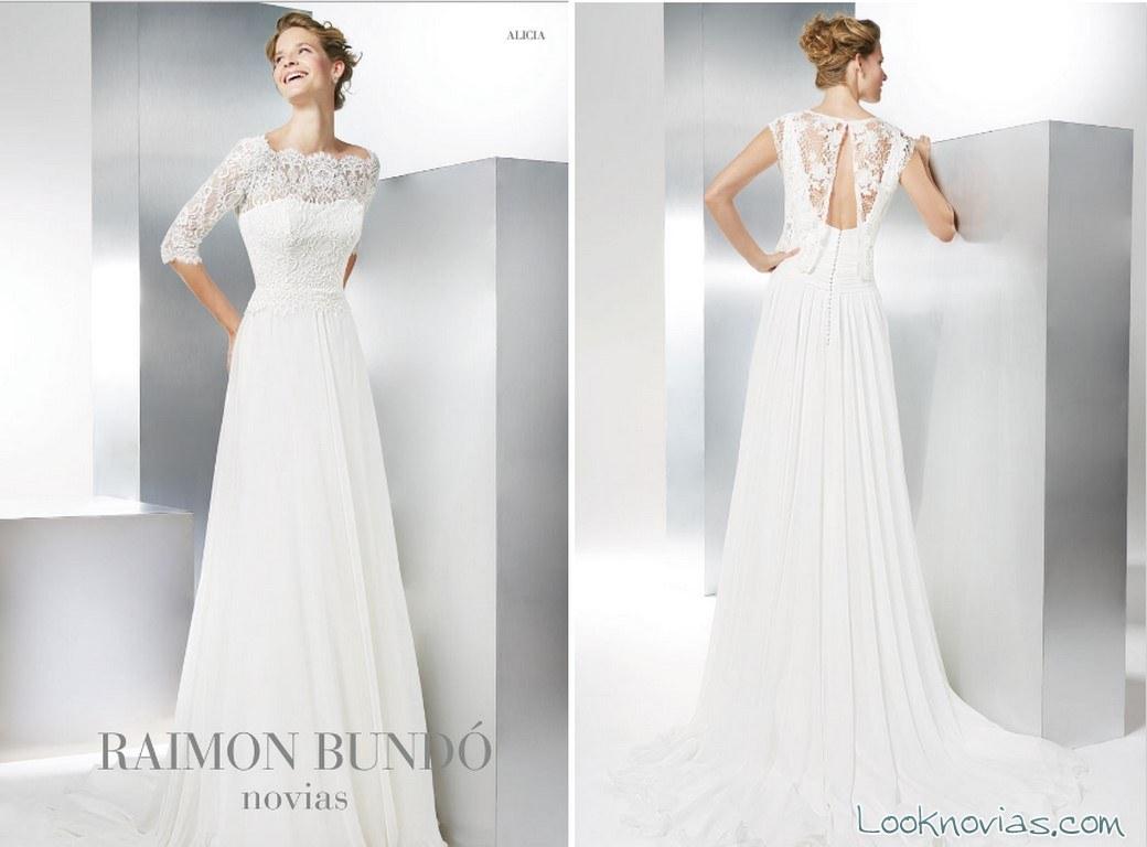 vestido novias blanco bundó 2017