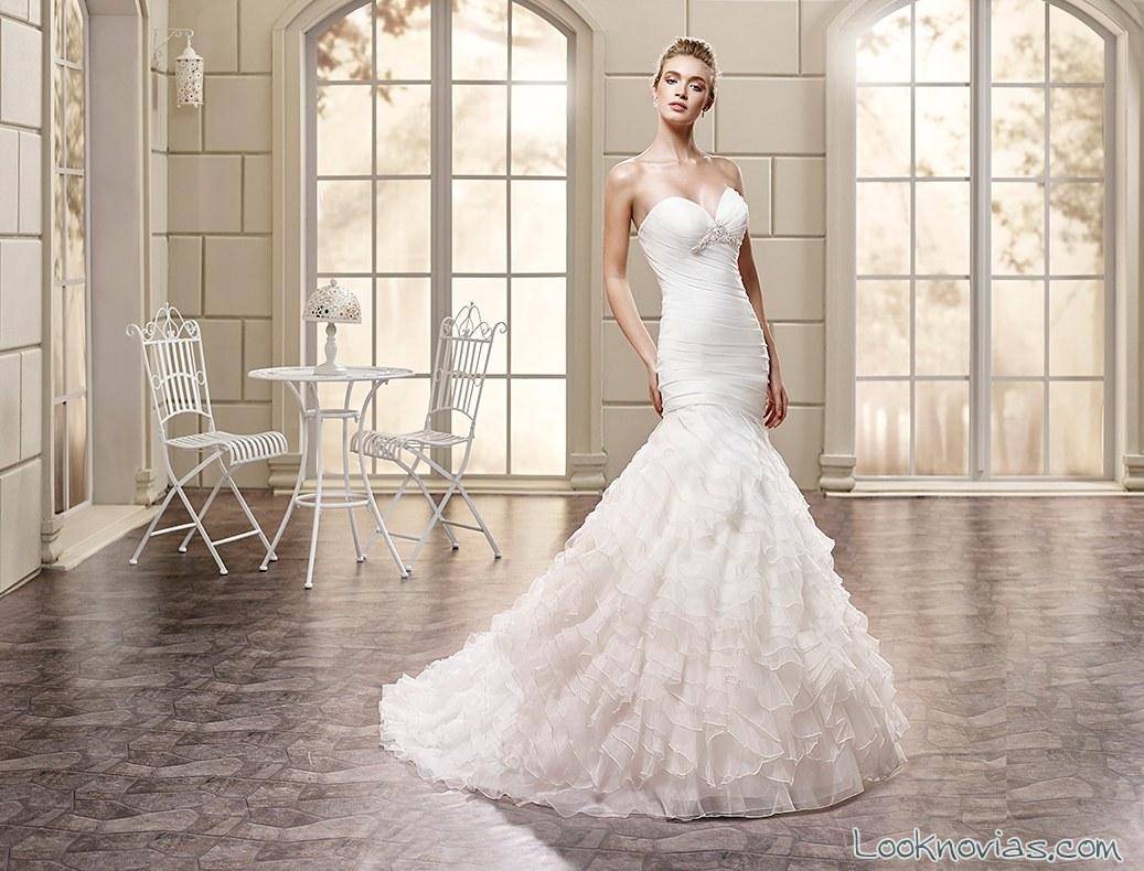 vestido novias color falda