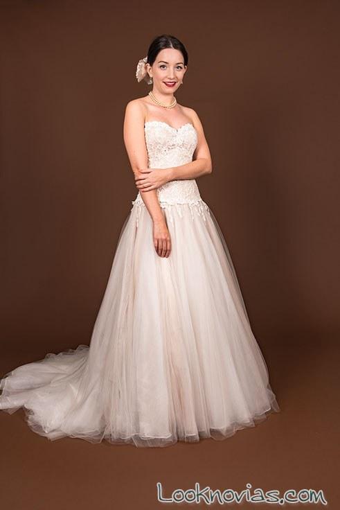 vestido novias corte a qnique