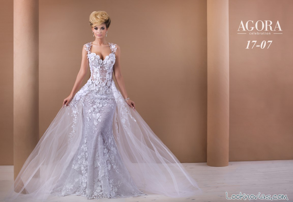 vestido novias doble falda agora