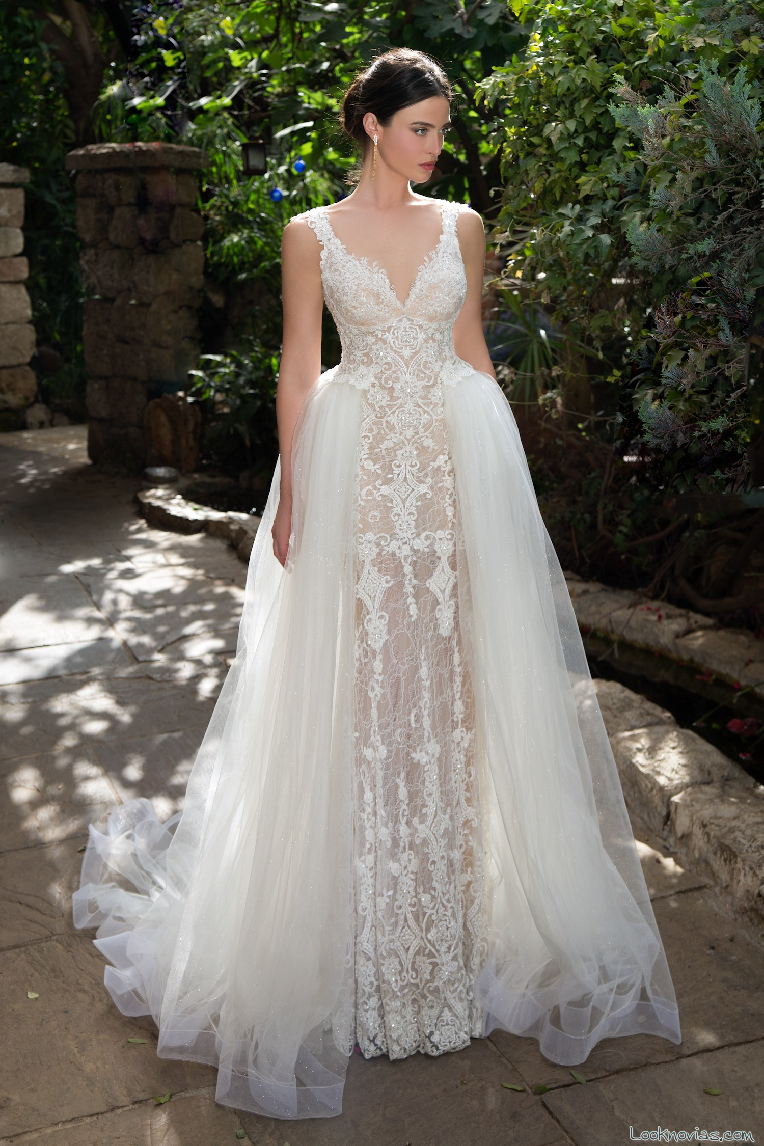 vestido novias doble falda naama