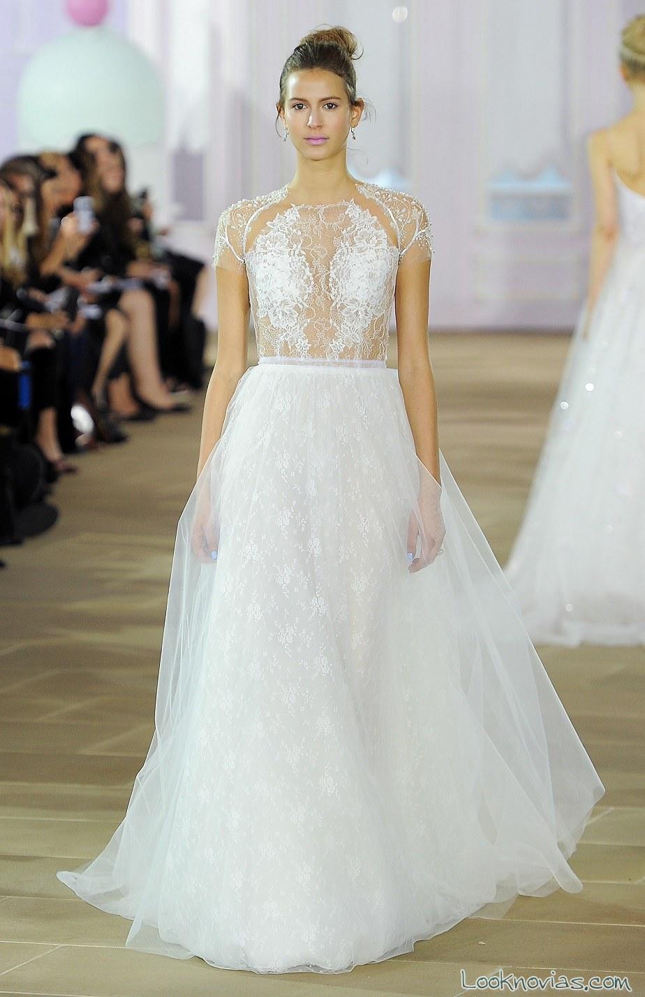 vestido novias falda con capas inés di santo