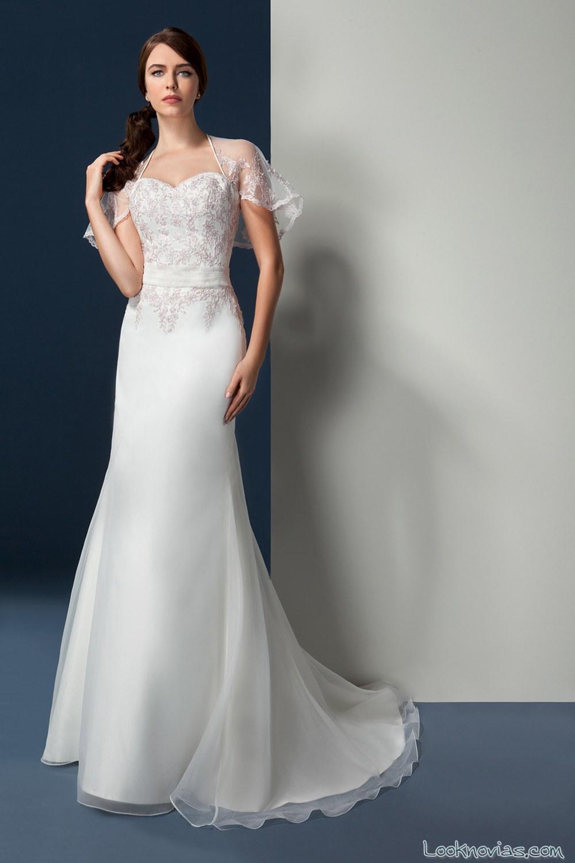 vestido novias oreasposa con bolero