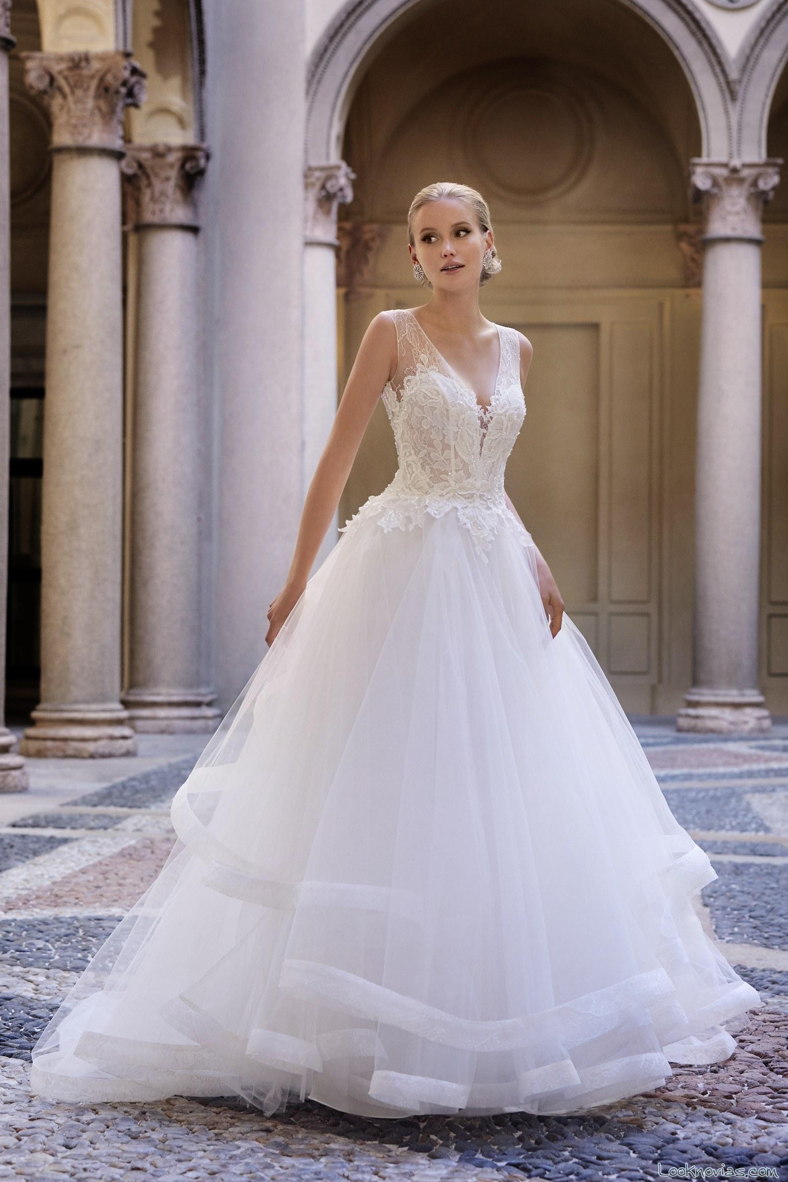 vestido novias volantes valentini spose 2017