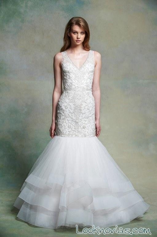 vestido original sirena de novia enaura