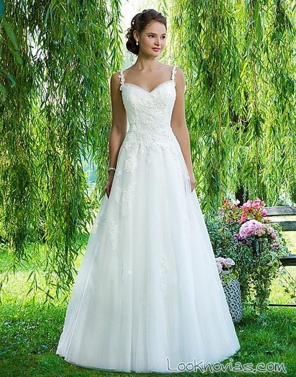 Vestidos de novia sencillos de tirantes