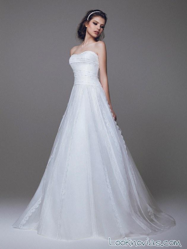 vestido para novia evasé de blumarine
