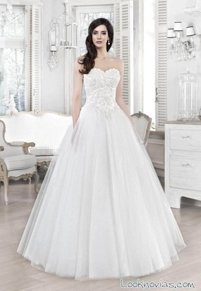 vestido princesa 2017 novias agnes bridal