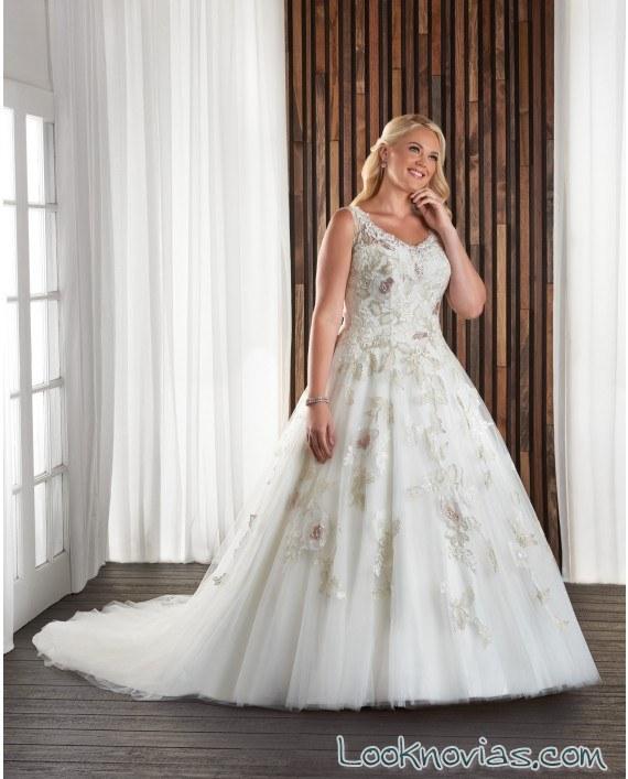 vestido princesa bonny bridal bordados