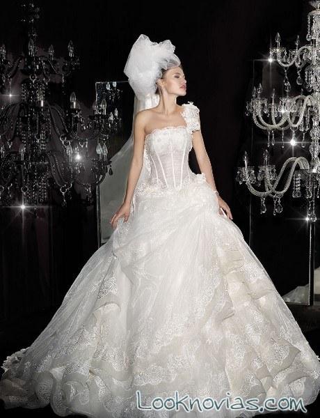 vestido princesa delsa escote asimetrico