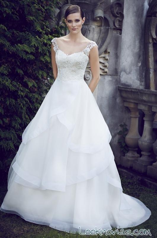vestido princesa gasa paloma blanca