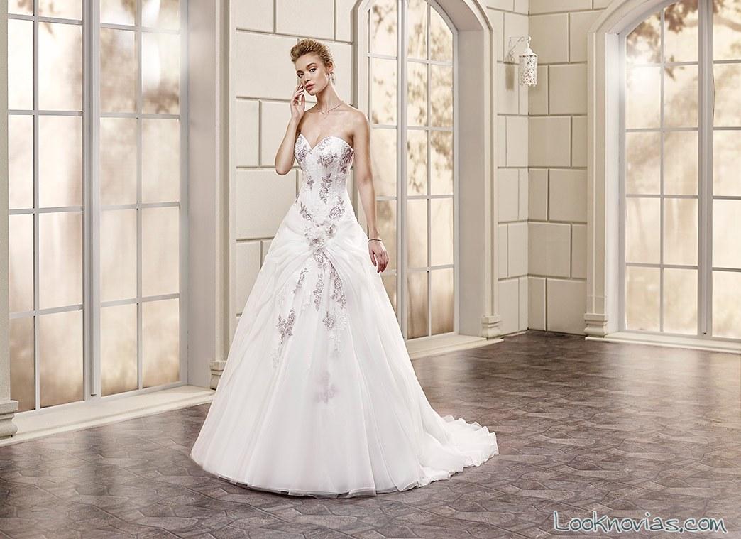 vestido princesa novias bordados florales