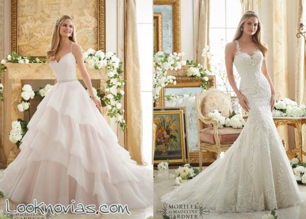6 increíbles vestidos para novia por Mori Lee