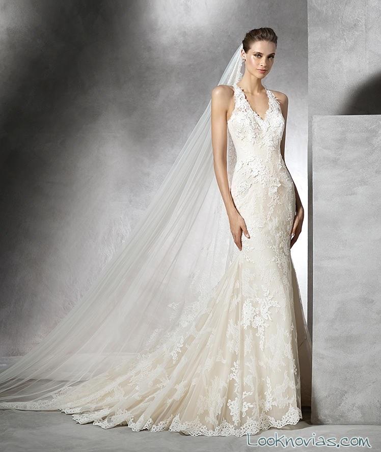 vestidos de novia pronovias en color