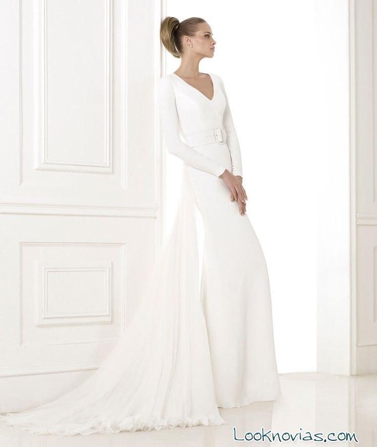 vestido pronovias minimalista