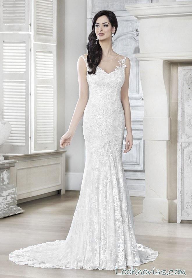 vestido recto agnes bridal 2017